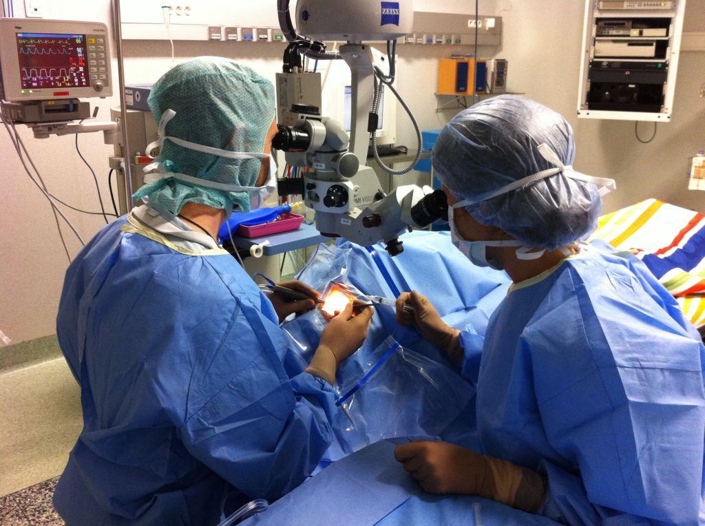 Intervention chirurgicale pratiquée par le Dr Leininger