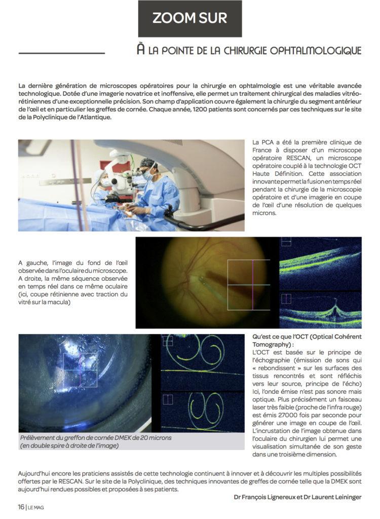 La PCA : à la pointe de la chirurgie ophtalmologique